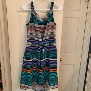 Striped Hi-Low Hem Casual Dress